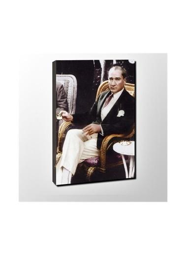 Chic Life Chic Life Atatürk Kanvas Tablo-30*40 cm Renkli